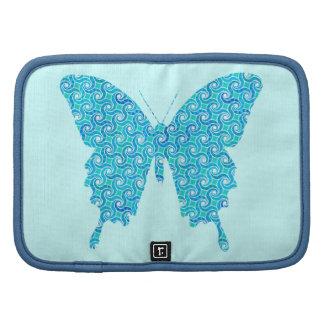 Mariposa, modelo en el azul, turquesa, blanca organizador