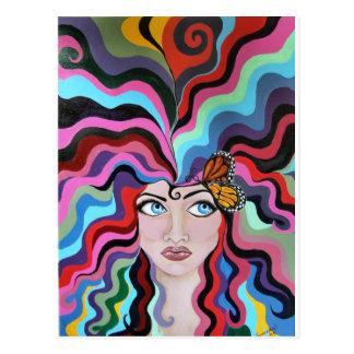 Mariposa molesta postal