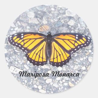 Mariposa Monarca Classic Round Sticker