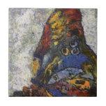 Mariposa Monet de Frida Kahlo inspirado Azulejo Cuadrado Pequeño