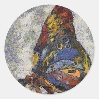 Mariposa Monet de Frida Kahlo inspirado Pegatina Redonda