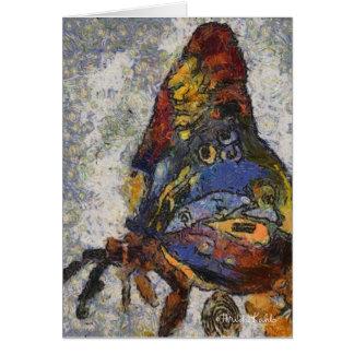 Mariposa Monet de Frida Kahlo inspirado Tarjeta