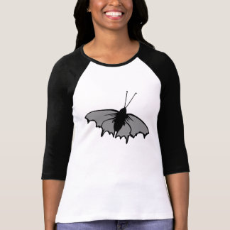 Mariposa monocromática playeras