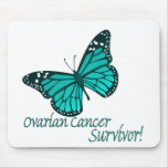 Mariposa Mousepad del superviviente del cáncer ová Alfombrillas De Ratón