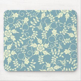 Mariposa Mousepad floral del vintage