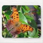 Mariposa muerta Mousepad de la hoja Alfombrilla De Ratones