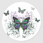 Mariposa multicolora pegatina