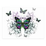 Mariposa multicolora postales
