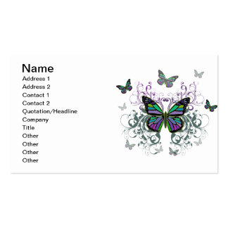 Mariposa multicolora tarjetas de visita
