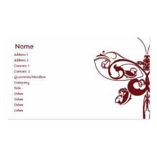 Mariposa - negocio plantilla de tarjeta personal