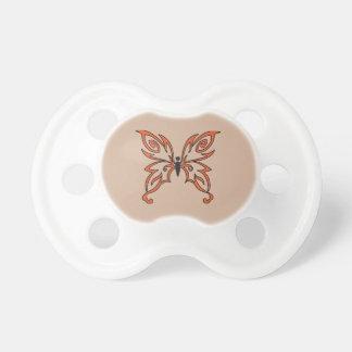 Mariposa negra anaranjada chupetes para bebés