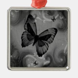 Mariposa negra animal abstracta adorno para reyes