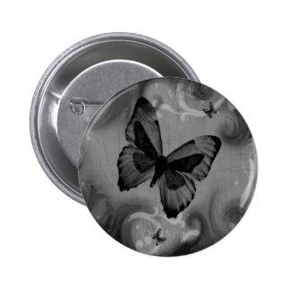 Mariposa negra animal abstracta pins