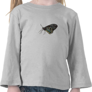 Mariposa negra de la gema camisetas