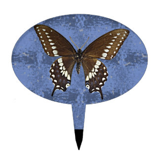 Mariposa negra de Oklahoma Swallowtail Decoraciones De Tartas
