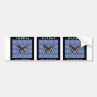 Mariposa negra de Oklahoma Swallowtail Pegatina Para Auto