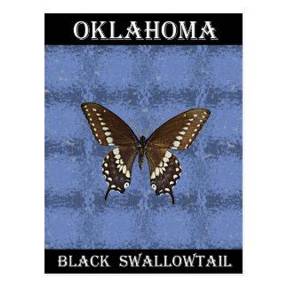 Mariposa negra de Oklahoma Swallowtail Postal