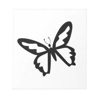 Mariposa negra libretas para notas