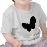 mariposa negra - mariposas camiseta