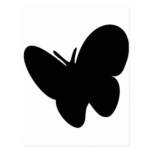 mariposa negra - mariposas postales