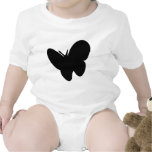 mariposa negra - mariposas traje de bebé