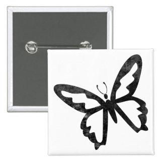Mariposa negra sucia simple pin