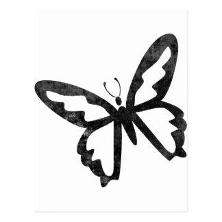 Mariposa negra sucia simple postales