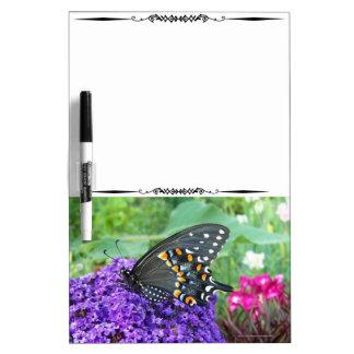 Mariposa negra Whiteboard decorativo Pizarra