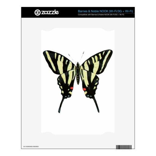 Mariposa negra y amarilla NOOK skin