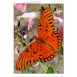 Mariposa Notecard del Fritillary del golfo Tarjetas