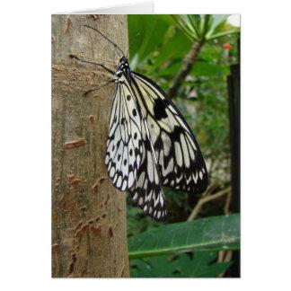 Mariposa Notecard del papel de arroz Tarjeta Pequeña