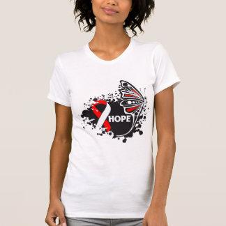 Mariposa oral del cáncer de la esperanza camiseta