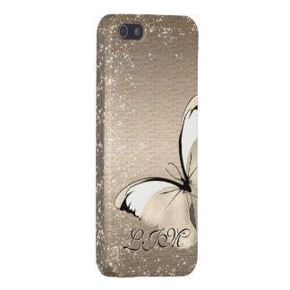 Mariposa - oro o plata - personalizable iP5 - 5c iPhone 5 Carcasa