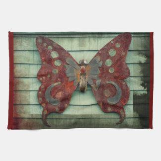 Mariposa oxidada toallas de mano