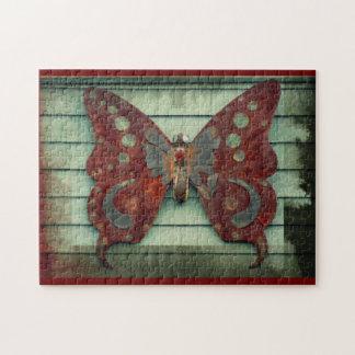 Mariposa oxidada puzzle con fotos
