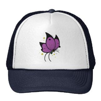 Mariposa pecosa llenada negro púrpura gorros bordados