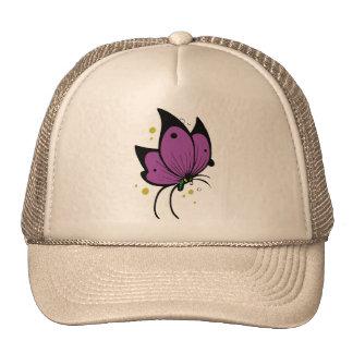 Mariposa pecosa llenada negro púrpura gorros