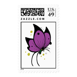 Mariposa pecosa llenada negro púrpura sellos