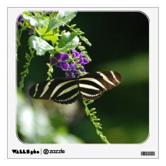 Mariposa perfecta de la cebra