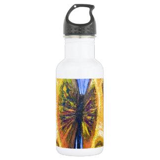 Mariposa perfecta (simbolismo del insecto) botella de agua