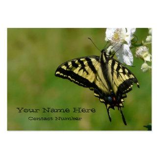 Mariposa personal o tarjeta del contacto comercial tarjetas de visita grandes