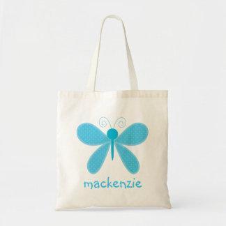 Mariposa personalizada Bookbag Bolsa Lienzo