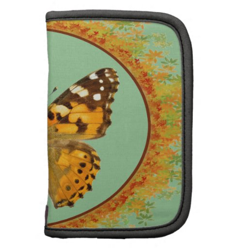 Mariposa pintada aislada de la señora organizador