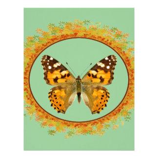 Mariposa pintada aislada de la señora membretes personalizados
