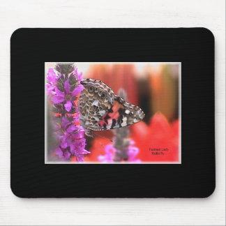 Mariposa pintada de la señora tapete de raton