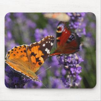 mariposa pintada de la señora y de pavo real mouse pad
