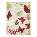 Mariposa - plantilla del personalizar invitación 12,7 x 17,8 cm