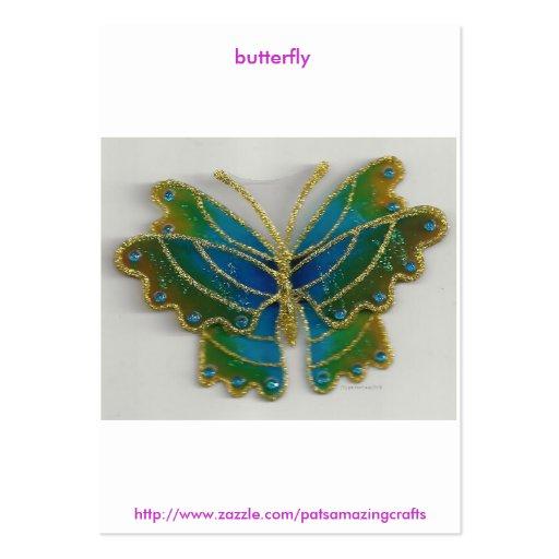 mariposa plantillas de tarjetas de visita