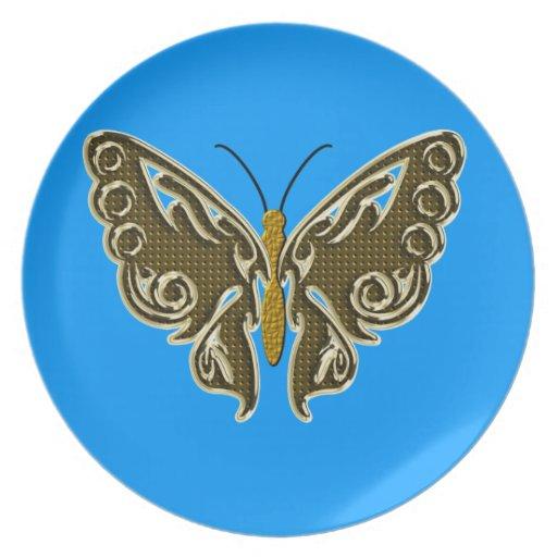 mariposa plato