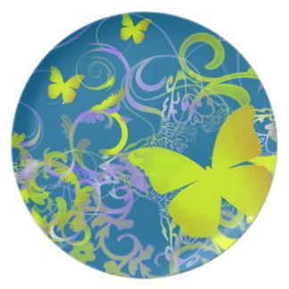 Mariposa Platos De Comidas